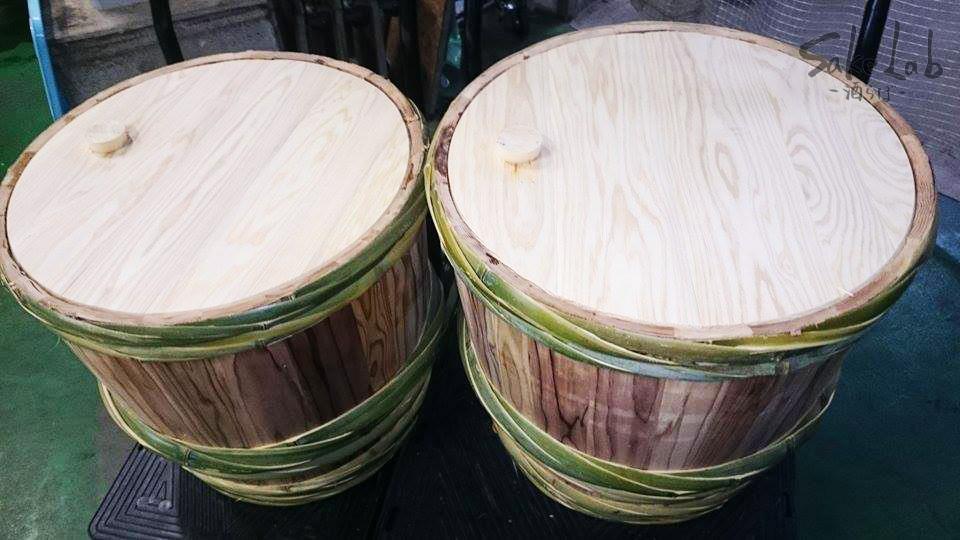 樽酒に使用される杉の樽